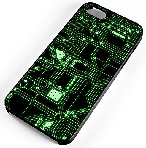 iPhone Case Fits Apple iPhone 8 PLUS 8+ Circuit Board CPU Electronics Look Not Real Board Black Rubber by TYD Designs