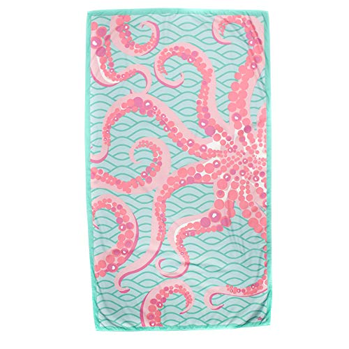The Royal Standard Octopus Mint/Pink Giant Microfiber Beach Towel 40x70