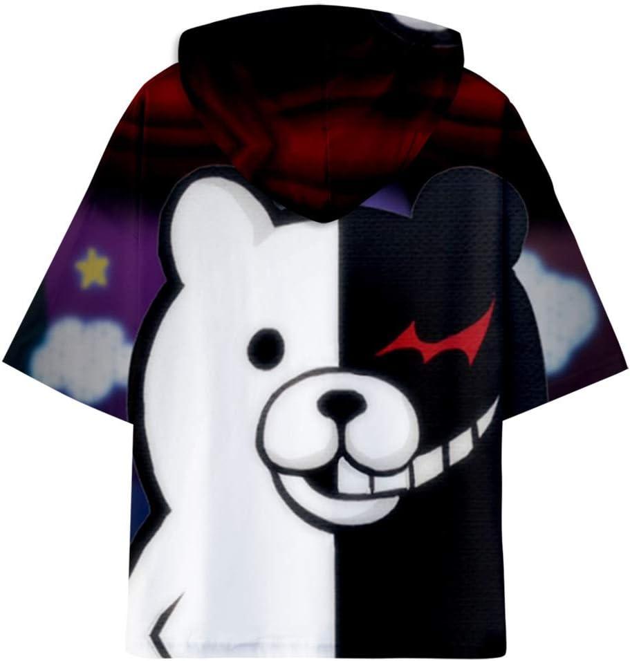 Monokuma Cardigan Ours Noir Et Blanc Kimono Amoureux Amoureux V/êtements D/écontract/és Taille: XXS-4XL HHNN Kimono Neutre Danganronpa