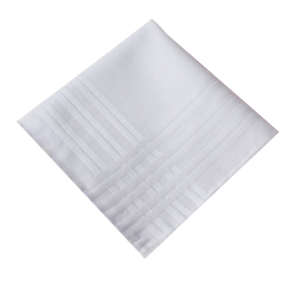 BoosKey Handkerchiefs Mens Cotton Soft, White Hankies Large and Absorbent for Men - 12 Pack by BoosKey (Image #3)