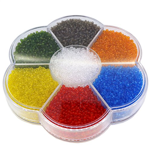 11/0 Transparent Glass Round Seed Beads for Jewelry Making,