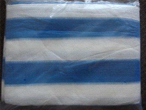 10 x 20 'ホワイトブルーシェードNetメッシュ画面庭パティオRV NurseryキャノピーSun Tarp  B00E01Q7B6