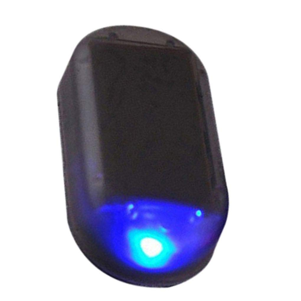 Car Anti Theft LED Light Auto Alarm Lamp Solar Energy Power Security Warning Flash Signal Beaums