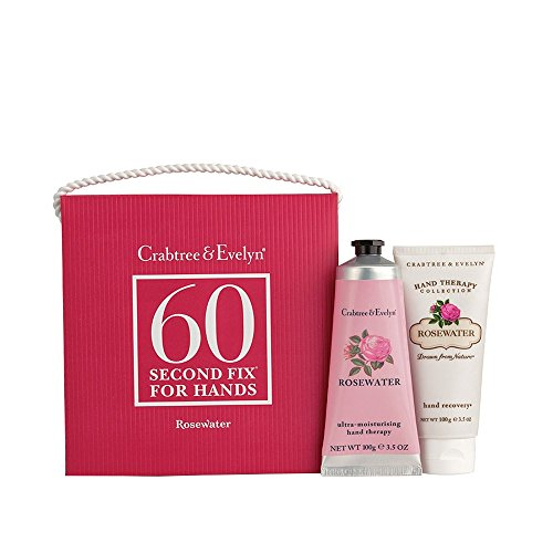 Crabtree & Evelyn 60-Second Fix for Hands, Rosewater, Standard