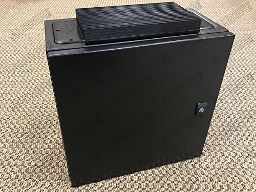 Wall-mount Enclosure for 4 Controllers 16x16x8'', Black, w/ 80A Heat Sink, B404020-HB by Auber Instruments