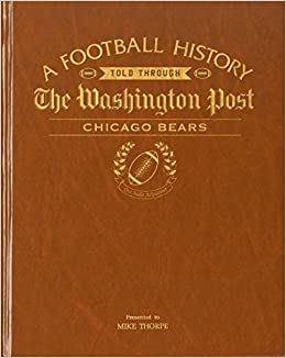 Chicago Bears Personalized Newspaper Book The Washington