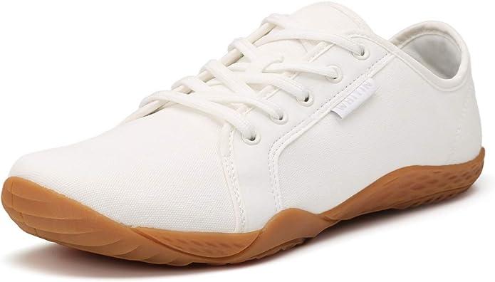 JOOMRA Zapatos minimalistas para mujer para correr descalzos | Caja ancha para dedo del pie, Blanco (Lienzo_blanco), 38.5 EU: Amazon.es: Zapatos y complementos