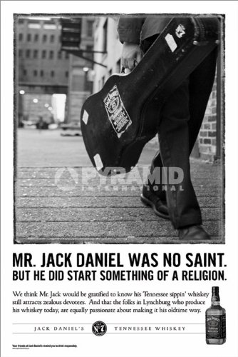 jack daniels jd mr jack daniel was no saint large advert art  jack daniels jd mr jack daniel was no saint large advert art poster 61 by 91 5