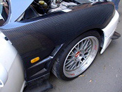 Carbon Fiber For NISSAN Skyline R33 GTR BN-Style Vented Right and Left Front Fender Replace Body Exterior Kits Pair