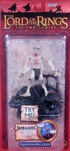 SMEAGOL 6 Action Figure from Lord of the Rings with Talking Base by Toy Biz -