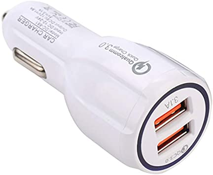 Cargador USB para Coche, Cargador de Coche de 2 Puertos con Carga rápida 3.0 Adaptador de Carga para Coche Cargador de Coche para Smartphone Tablet Powerbank: Amazon.es: Electrónica