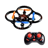 Emob Ufo Intrude Quadcopter Small Size Drone & Stabilizer Design For Stable Performance 2.4 Ghz Remote Control Drone Black