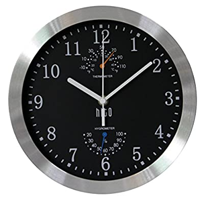 hito Silent Non-Ticking Wall Clock- Metal Frame Glass Cover, 10 inches -  - wall-clocks, living-room-decor, living-room - 51%2B3kD0AqyL. SS400  -