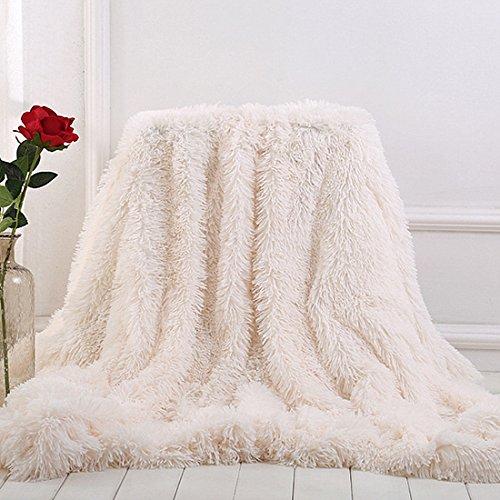 - MYRU Plush Super Soft Blanket Bedding Sofa Cover Furry Fuzzy Fur Warm Throw Qulit Cozy Couch Blanket for Winter (51