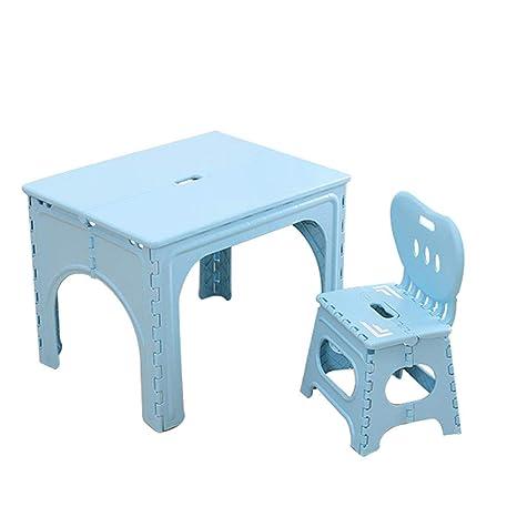 Amazon.com: ZH - Juego de mesa y silla plegables para niños ...