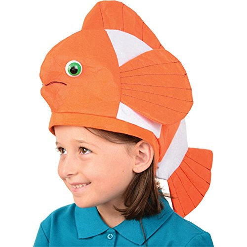 U.S. Toy (H394) Bright Orange Clown Fish Hat]()