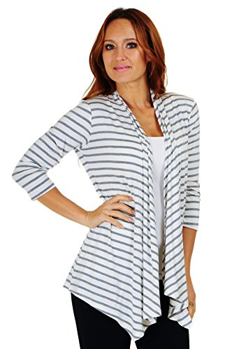 Simply Ravishing SR Womens Basic Various Style Sleeve Open Cardigan (Size: Small-5X)