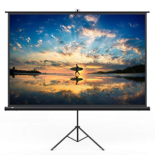 TaoTronics Projector Screen with Stand, TT-HP020 Indoor Outdoor Movie Projection Screen 4K  with Wrinkle-Free (Easy to Clean, 1.1 Gain, 160 Viewing Angle, Includes a Carry Bag) (Renewed)