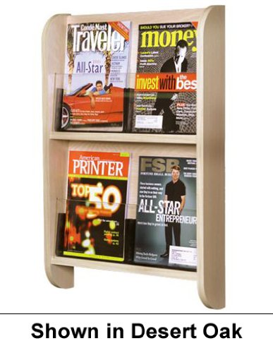 WM-4 Wall Mounted 4 Pocket Magazine Rack - Natural Oak Trim Shopping Results