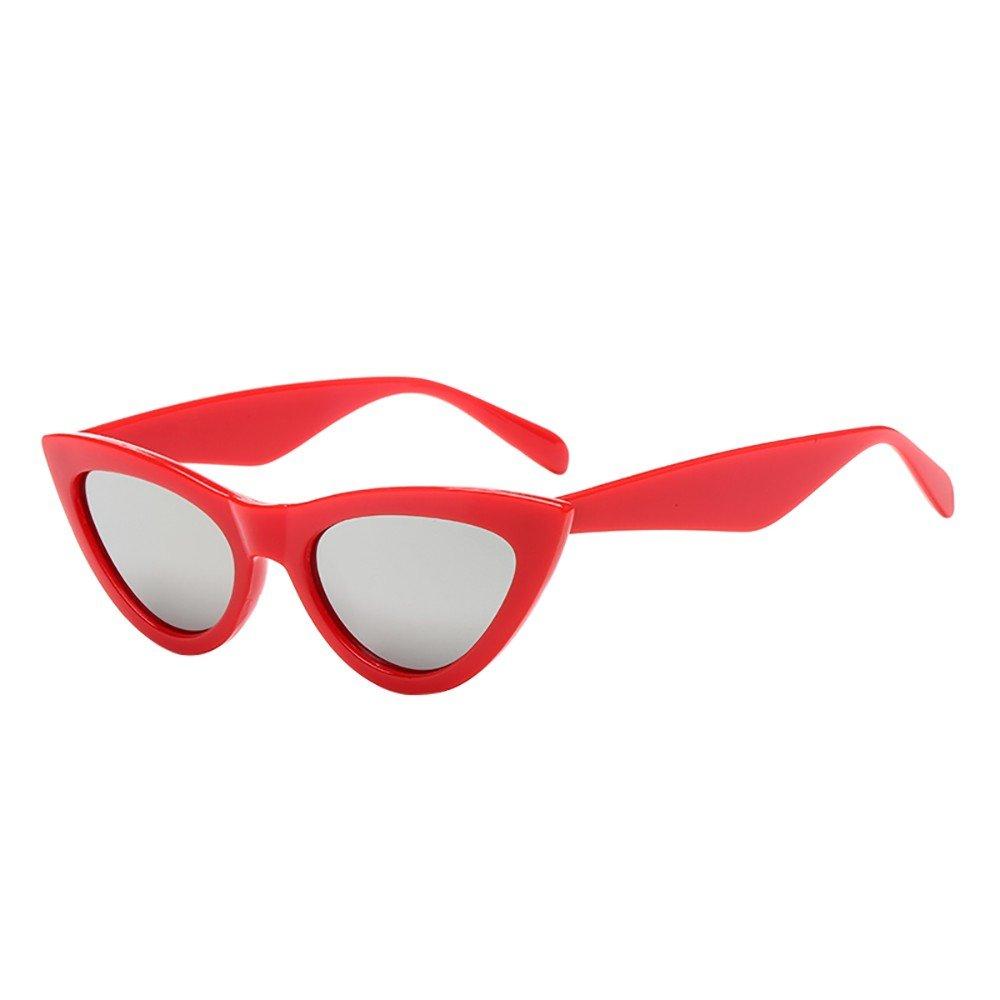 Trisee ✔ Sonnenbrille, Sonnenbrille Herren Sonnenbrille Damen Mode Retro Vintage Cat Eye Sonnenbrille Rapper Grunge Brille Eyewear Blue Light Blocking Glasses Brille Ohne SehstäRke