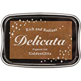 Tsukineko DE000191 Delicata Golden Glitz Metallic Pigment Inkpad, Full