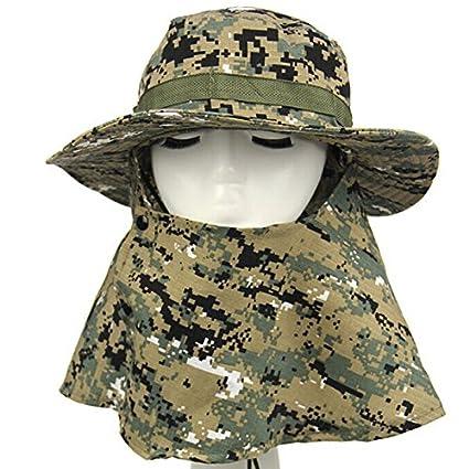 Amazon.com   Outdoor Hunting Men s Jungle Bonnie Hat Digital Camo ... b014396c5dd