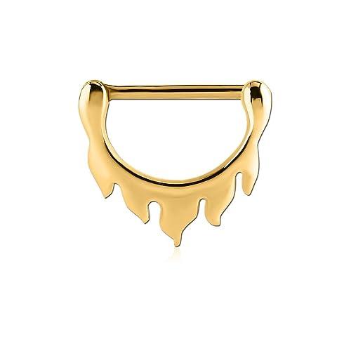 Amazon com: Adatto Nipple Piercing Jewelry Gold Coated