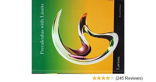 Precalculus With Limits: Ron Larson: 9781439049099: Amazon