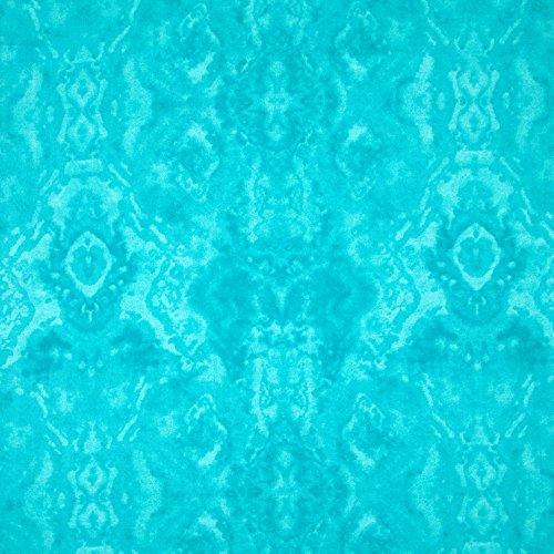 - A.E. Nathan 0372256 Comfy Flannel Tone Aqua Fabric by The Yard