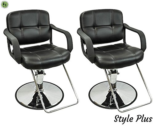 Hydraulic Styling Chair Set (2 PC Styling Chairs For Sale Salon Equipment Hair Stylist Spa Chairs)
