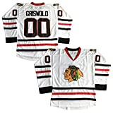 Clark Griswold #00 X-Mas Christmas Vacation Movie Hockey Jersey White (White, Small)