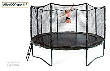 JumpSport AlleyOOP VariableBounce Trampoline with Enclosure Premier Performance and Safety Features 10 , 12 , or 14