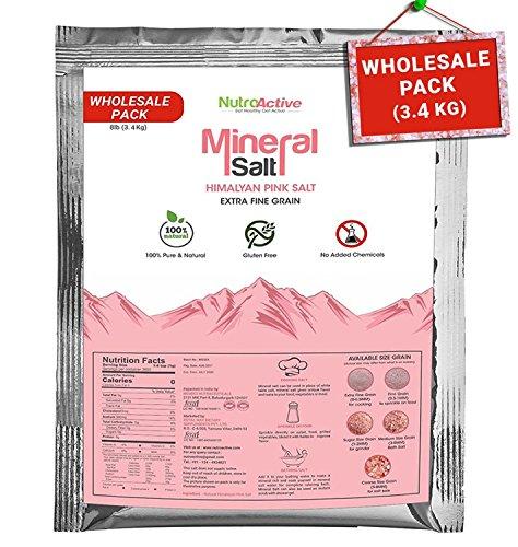 NutroActive Mineral Salt, Himalayan Pink Salt Extra Fine Grain (0 - 0.5 mm) 3600 gm for cooking…