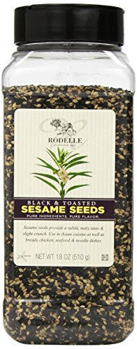 Rodelle Black and Toasted Sesame Seeds, 18 Ounce by Rodelle