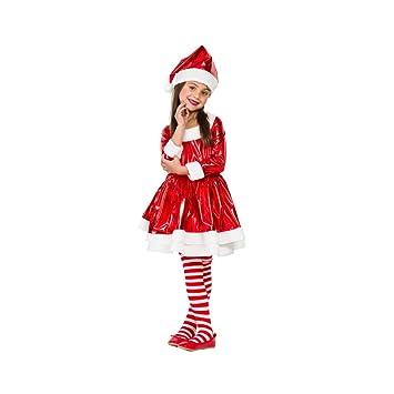Disfraz Mama Noel Electric (7-9 AÑOS): Amazon.es: Juguetes y juegos
