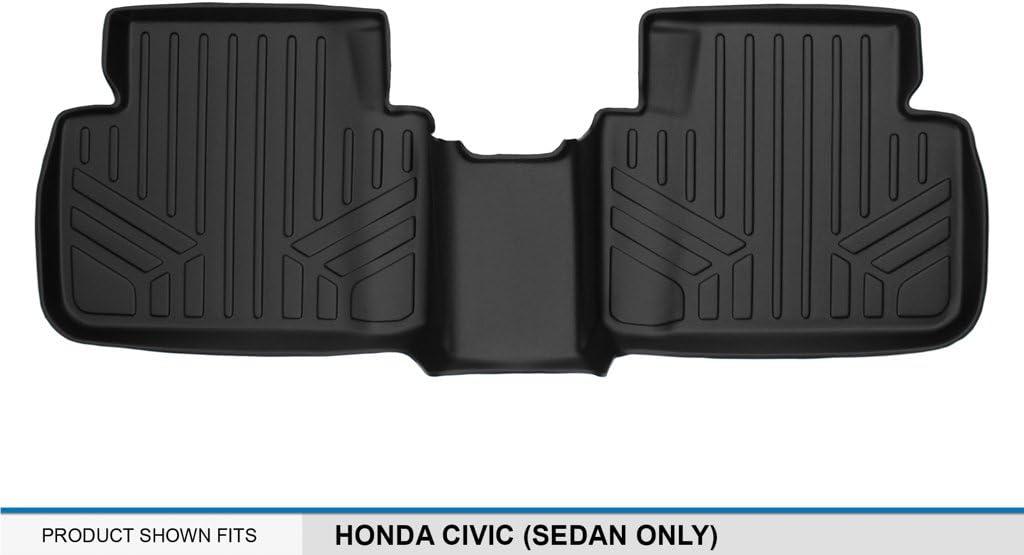 Sedan Only Second Row 2016-2017 MAX LINER B0224 MAXFLOORMAT Floor Mats for Honda Civic MAXLINER Black