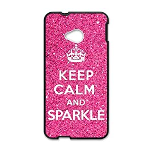 Pink simple motto design Cell Phone Case for HTC One M7