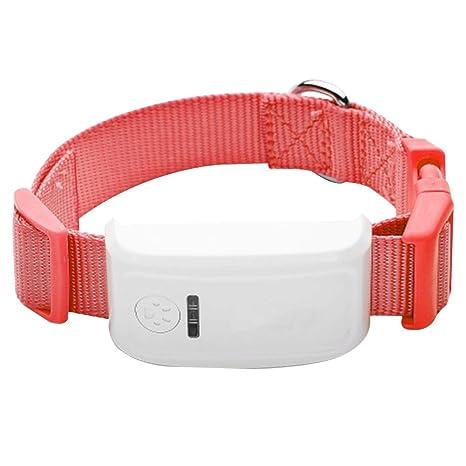 UKCOCO Perros Collar con GPS Tracker, antirreflejos, Perdidos GPS Perro Mascotas Finder Locator,