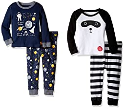 The Children\'s Place Little Boys and Toddler New 2-Piece Cotton Pajama Set (Pack of 2), Multi Color, 2T