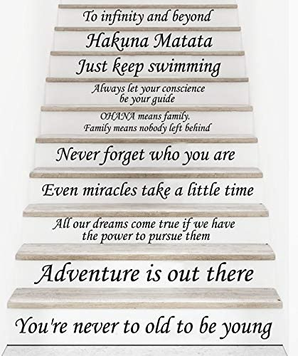 Stair Decals Disney Quotes Stairway Decals 13 Steps Quote Vinyl Stickers  lettering Family Decor Staircase Decal Stair x237