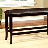 Furniture of America CM3024PBN Woodside II Counter Height Bench Seating