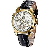 Luxury Golden Bezel Tourbillon Style Auto Mechanical Sport Watch