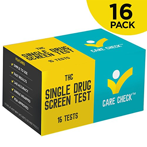 Care Check Marijuana THC Single Panel Drug Screen Test , Individually Wrapped 16 Home Drug Test Kits