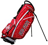 Team Golf NCAA Ohio State Buckeyes Fairway Golf Stand Bag, Lightweight, 14-way Top, Spring Action Stand, Insulated Cooler Pocket, Padded Strap, Umbrella Holder & Removable Rain Hood