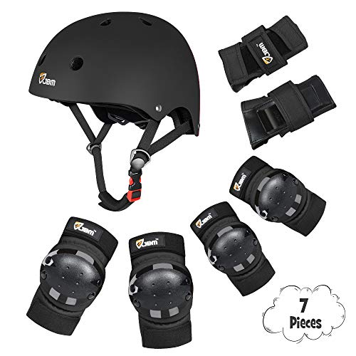 JBM Child & Adults Rider Series Protection Gear Set for Multi Sports Scooter, Skateboarding, Biking, Roller Skating, Protection for Beginner to Advanced, Helmet, Knee and Elbow Pads with Wrist Guards from JBM international