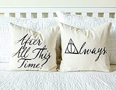 After All This Time? Always. Pillow Cover Set - Home Decor, Anniversary Gift, Wedding Gift, Decor, Book Lover Gift, Gift for Her