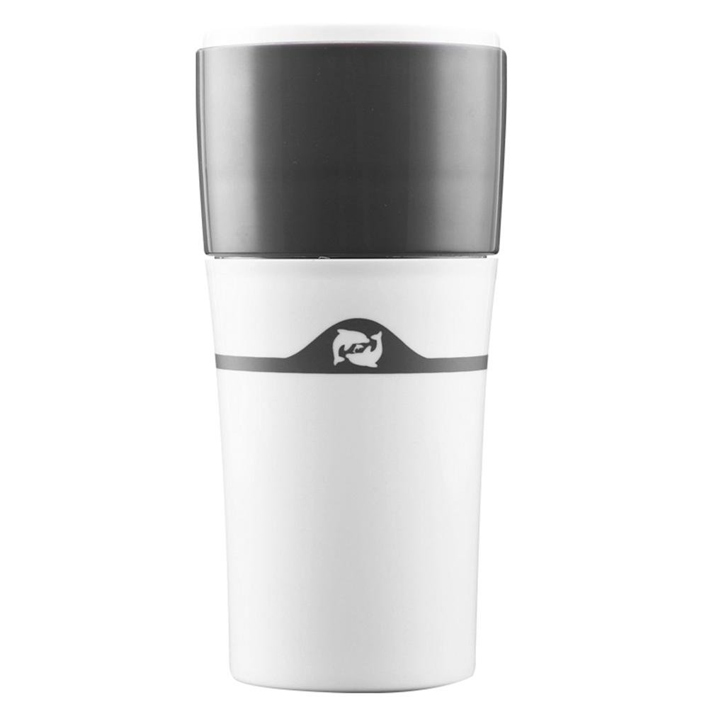 Hand Coffee Maker Coffee Mug 450mL 15oz Bottle Portable Reusable Coffee Filter K Cups for Outdoor, Home, Office (White) sikiwind