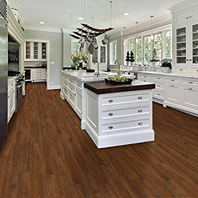 Select Surfaces American Walnut Click Luxury Vinyl Plank Flooring - 4 Boxes