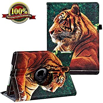 iPad 9.7 inch Case 2018 2017/ iPad Air Case - 360 Degree Rotating Stand Protective Cover Smart Case with Auto Sleep/Wake for Apple iPad 5th/6th Generation ()