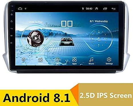 Reproductor Multimedia de 10 Pulgadas 2.5D IPS Android 8.1 para Coche DVD GPS para Peugeot 2008 208 2013 2014-2017 Audio Coche Radio estéreo navegación: Amazon.es: Electrónica